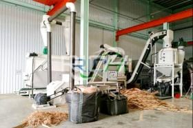 The 1-2t/h biomass wood pellet line in TAIWAN