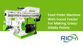 Pellet Machine With Foced Feeder For Making Grass/Alfalfa Pellets