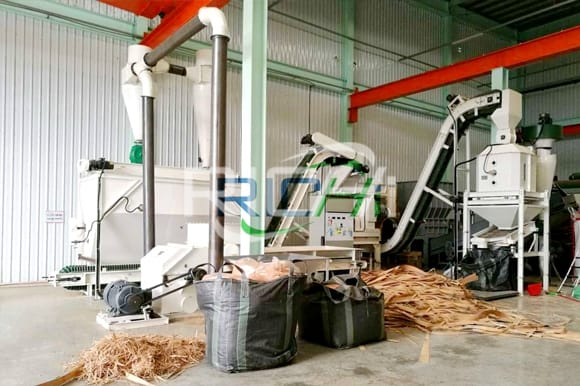 Hot selling in china main equipment used in wood chip production line for sale