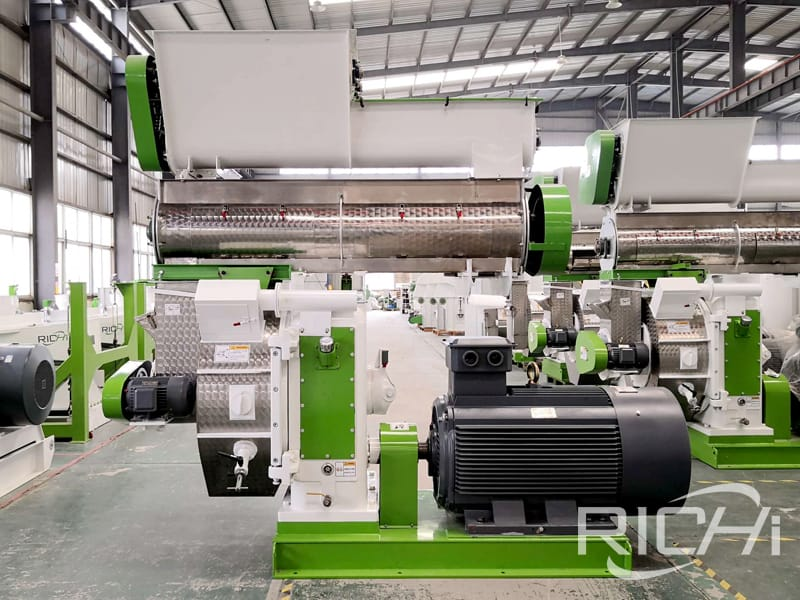 110kw ring die wood pellet mill machine