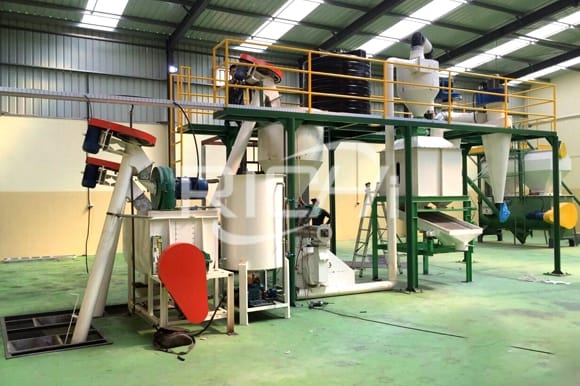 poultry animal feed pellet production line with factory price