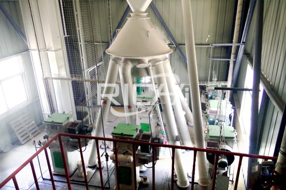 Complete set poultry animal feed pellet production line cost