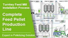 Complete Animal Feed Pellet Line, Turnkey Feed Mill Installation Process