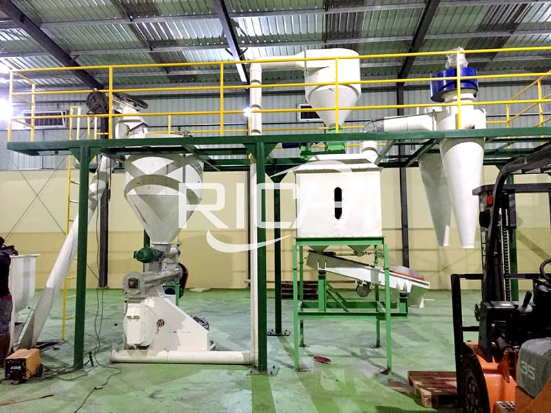1-2tph small scale animal poultry cattle shrimp feed mill for sale