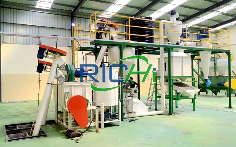 cattle animal feed pellet making line machine to make chicken feed