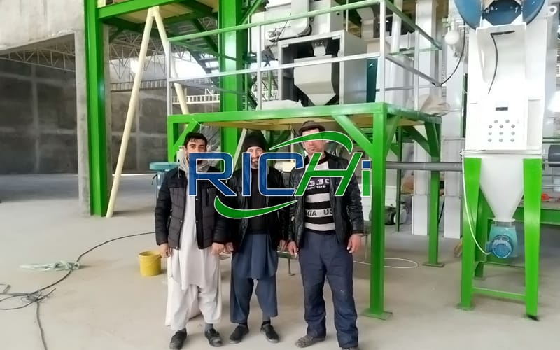 60t/h large scale animal feed pellet plant ring die feed pellet production line project