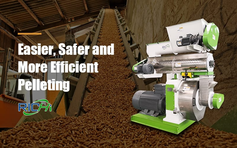 field installation provided rice husk wood pellet mill machine