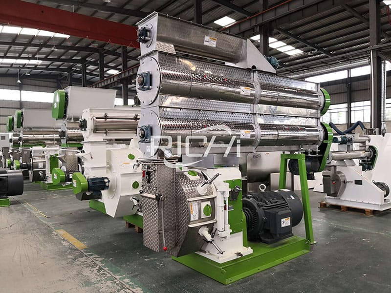 complete fish feed pellet mill lines 1 2 t h
