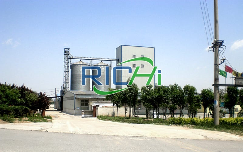 [RICHI In Uzbekistan]10-15TPH chicken mash and pellet feed line with silo storage system in Urgench