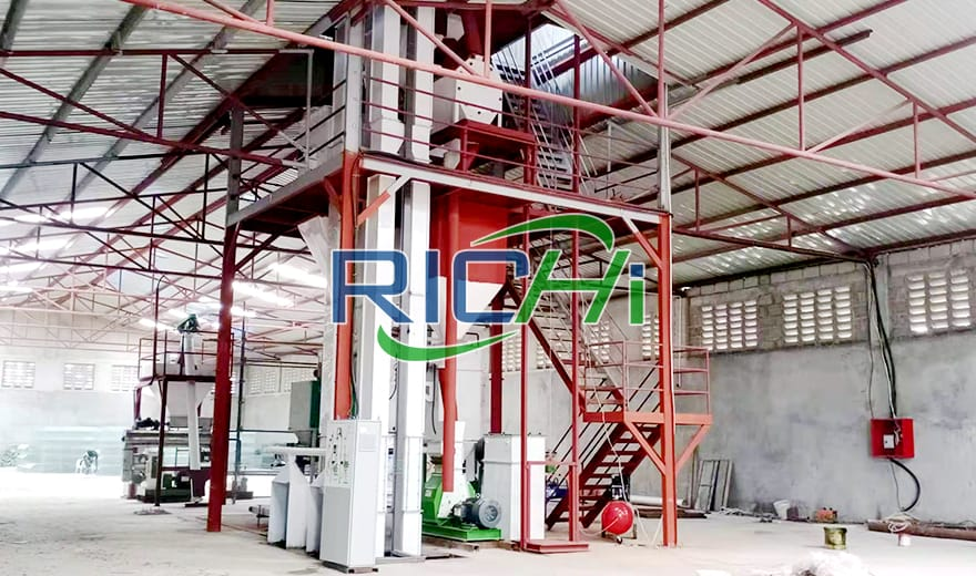 3-5T/H Animal Powder Feed Production Line+1T/H Grass Pellet Processing Line