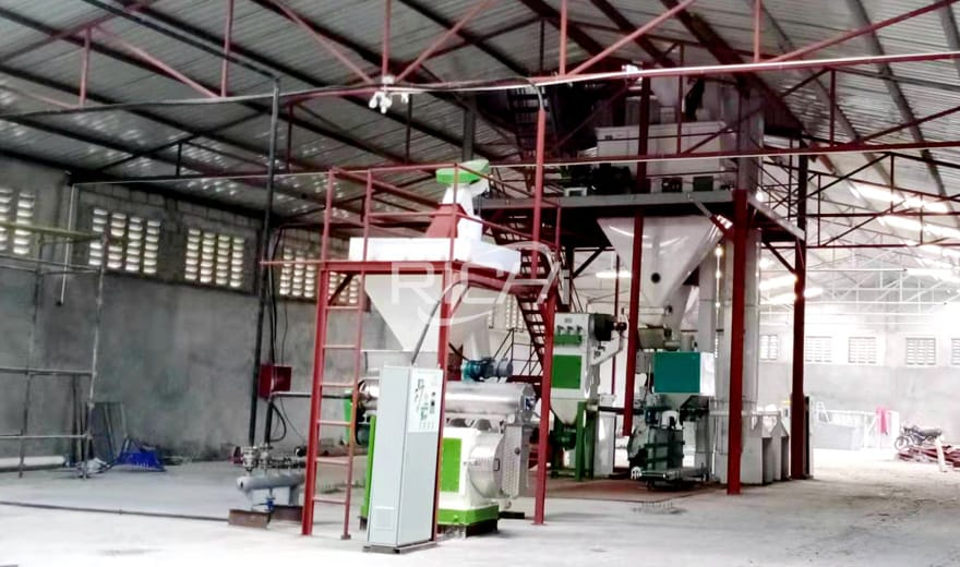 1-2T/H Chicken Feed Pellet Production Plant In Papua New Guinea