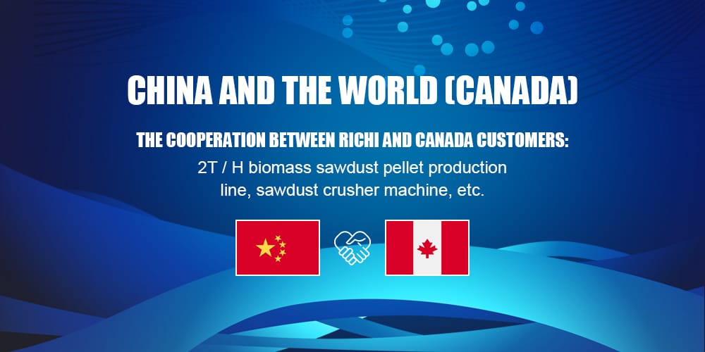 Canada factory supply 5 ton per hour customized biomass wood pellet line project