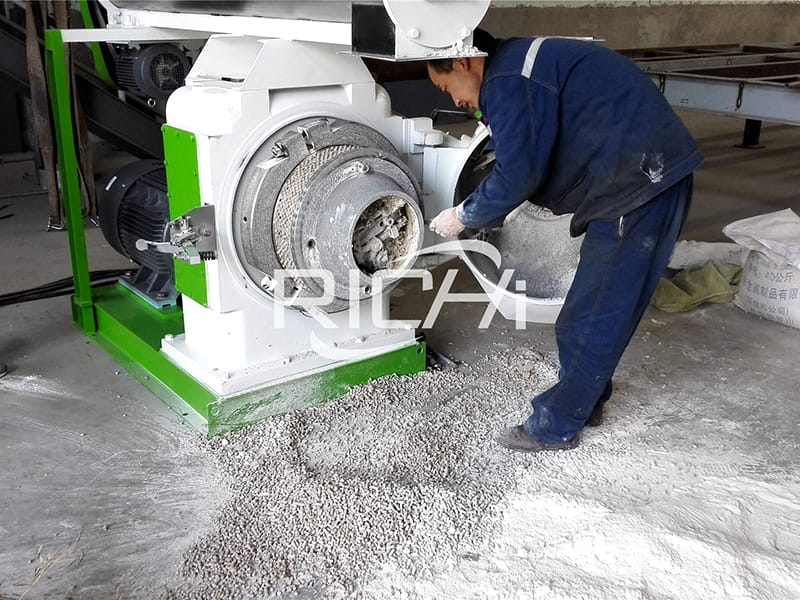 5-6TPH natural bentonite clay and attapulgite cat litter pellet making machine for cat litter production line in UK