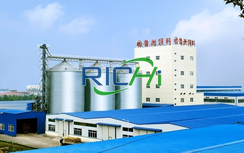 China Multi functional poultry chicken animal feed plant project with 80 tons per hour production ca