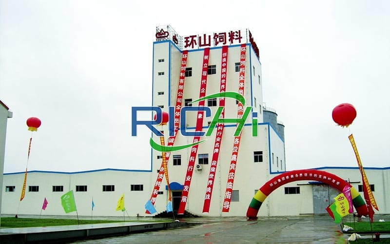 Automatic 25t/h chicken and pig feed production line technical transformation project in China