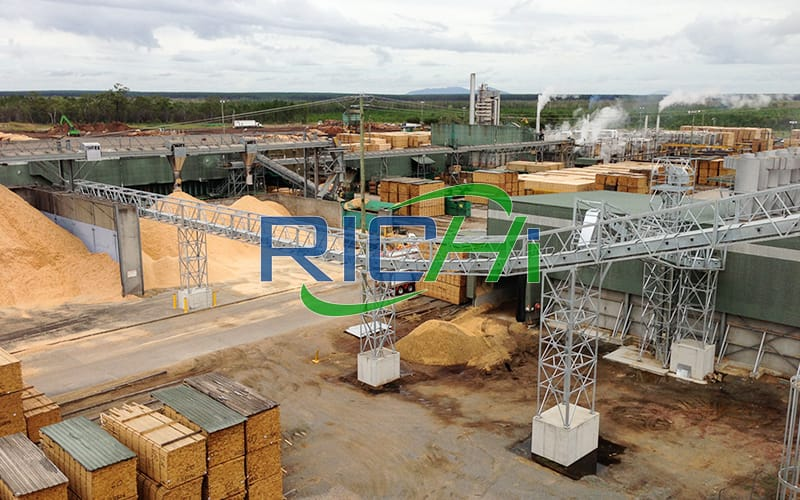 Professional Design Low Consumption 8T/H Wood Peanut Shell Straw Pellet Manufacturing Plant Project