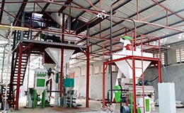 3-5T/H poultry chicken feed pelletizing plant